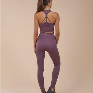 Gymshark Purple Wash Seamless Set Sm Bra, Med Leg